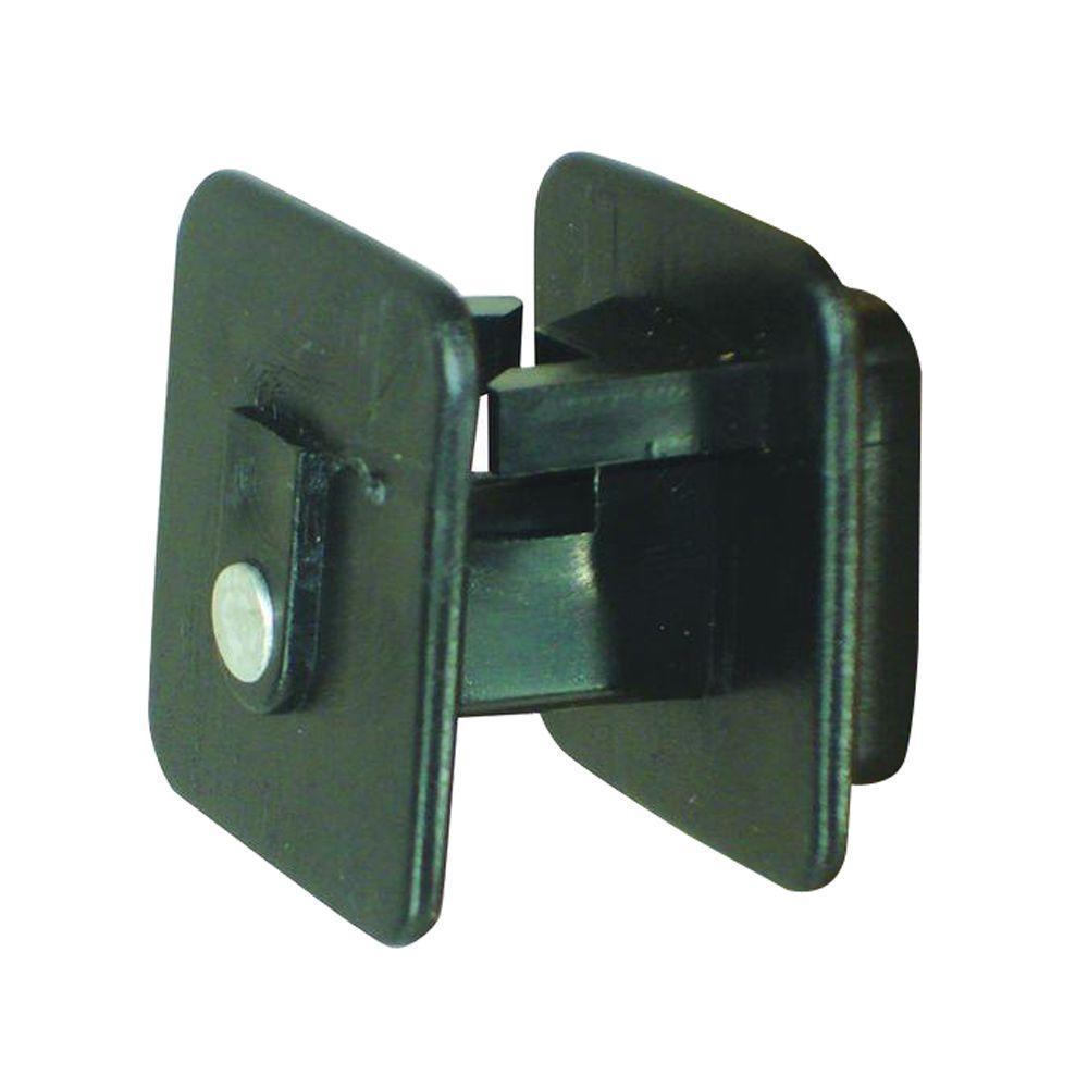 Wood Post - Screw on Insulator - Black