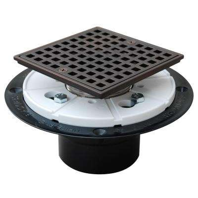 2 in. ABS Square-Head Shower Pan Drain in Oil-Rubbed Bronze