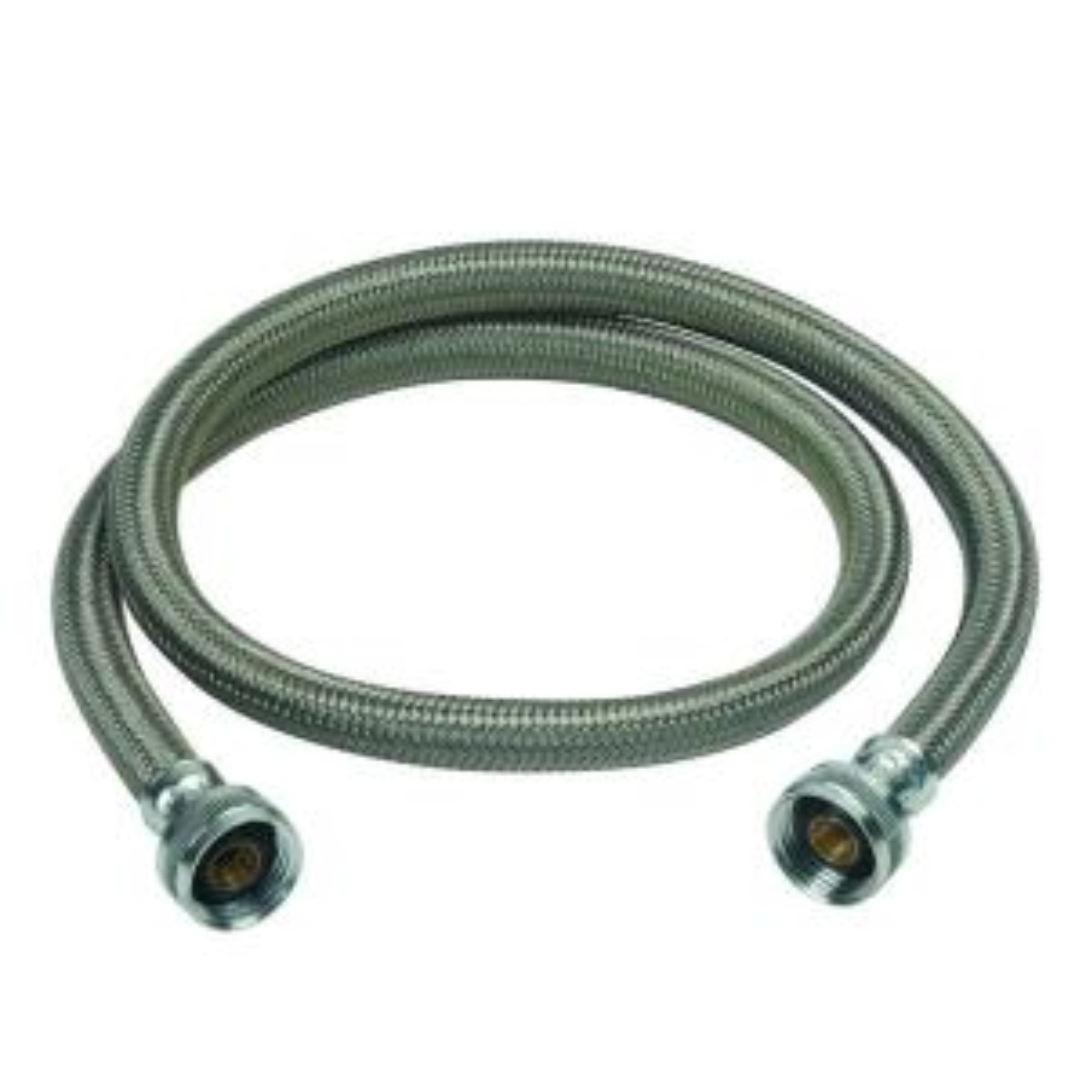 Brasscraft 3/4 inch Female Hose Thread, Both Ends x 48 inch Braided Polymer Washing Machine Connector by BrassCraft