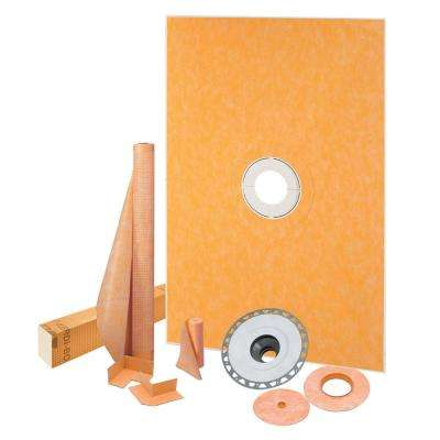 Kerdi-Shower 38 in. x 60 in. Shower Kit with PVC Flange