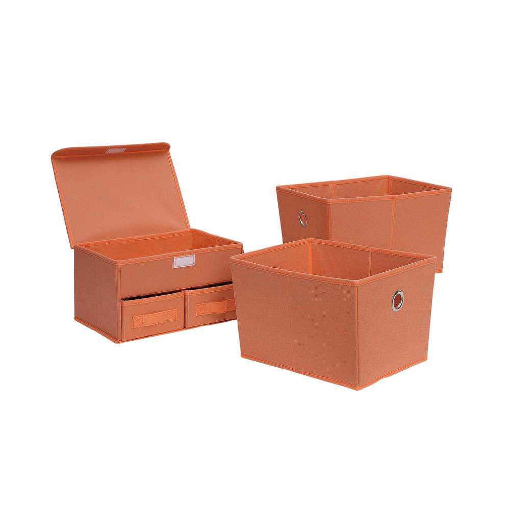 12.75 in. x 8 in. Salmon 3-Cube Organizer