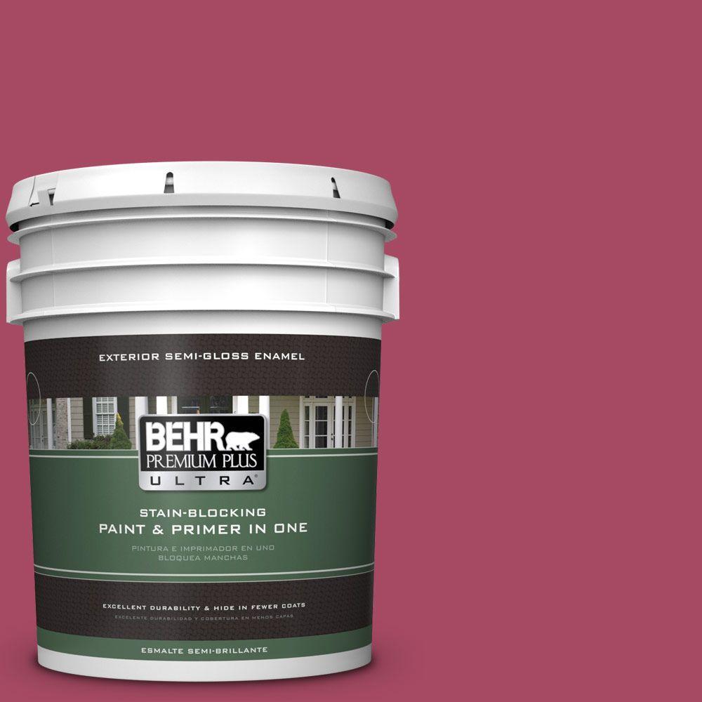 5-gal. #120D-5 Glazed Raspberry Semi-Gloss Enamel Exterior Paint