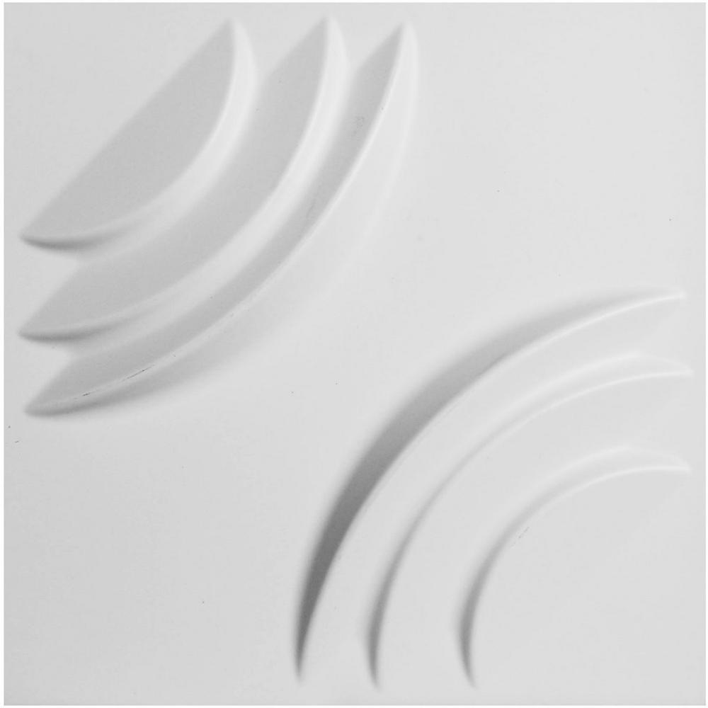 Ekena Millwork 7/8 in. x 11-7/8 in. x 11-7/8 in. PVC White Artisan EnduraWall Decorative 3D Wall Panel