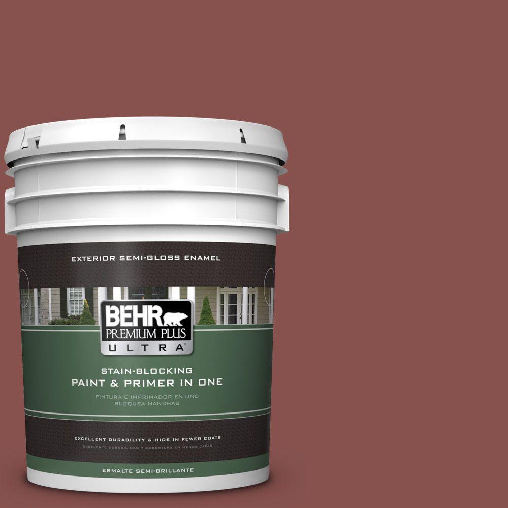 BEHR Premium Plus Ultra 5-gal. #160F-6 Boston Brick Semi-Gloss Enamel Exterior Paint