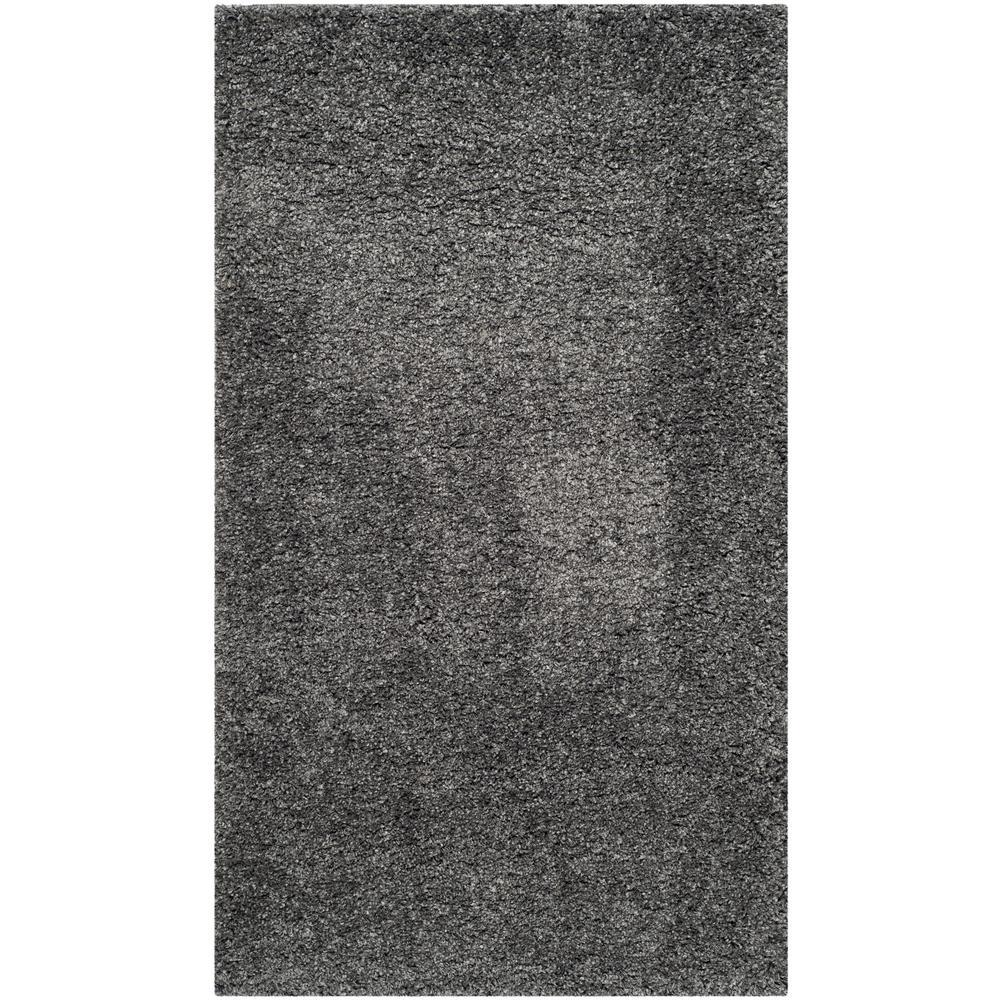 California Shag Dark Gray 11 ft. x 15 ft. Area Rug