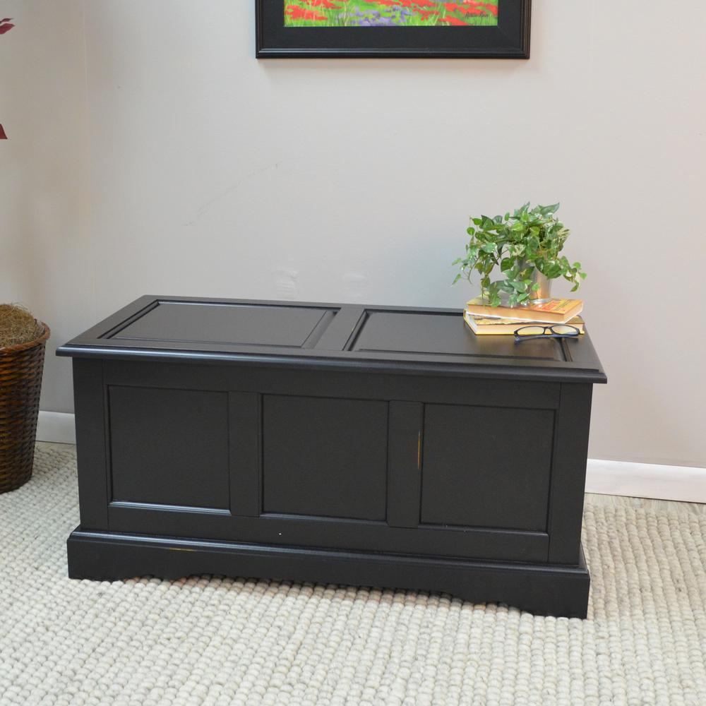 Carolina Cottage Camden Antique Black Trunk