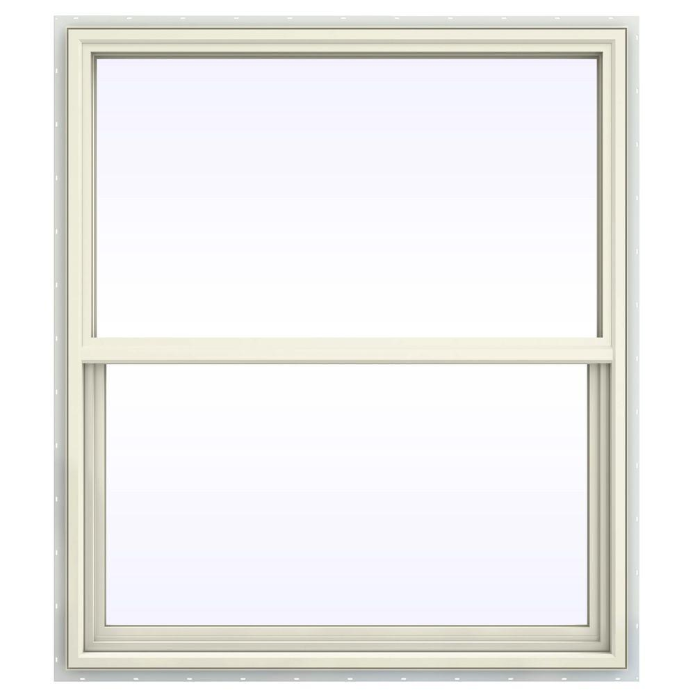 JELD-WEN 41.5 in. x 41.5 in. V-4500 Series Single Hung Vinyl Window - Yellow