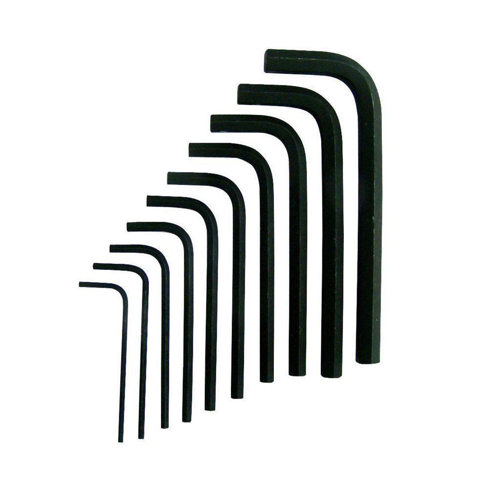 Metric Short Arm Hex Key Set (10-Piece)