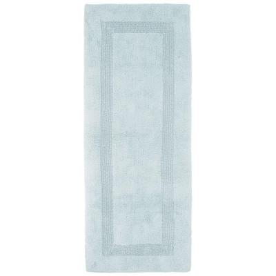 Seafoam 2 ft. x 5 ft. Cotton Reversible Extra Long Bath Rug Runner