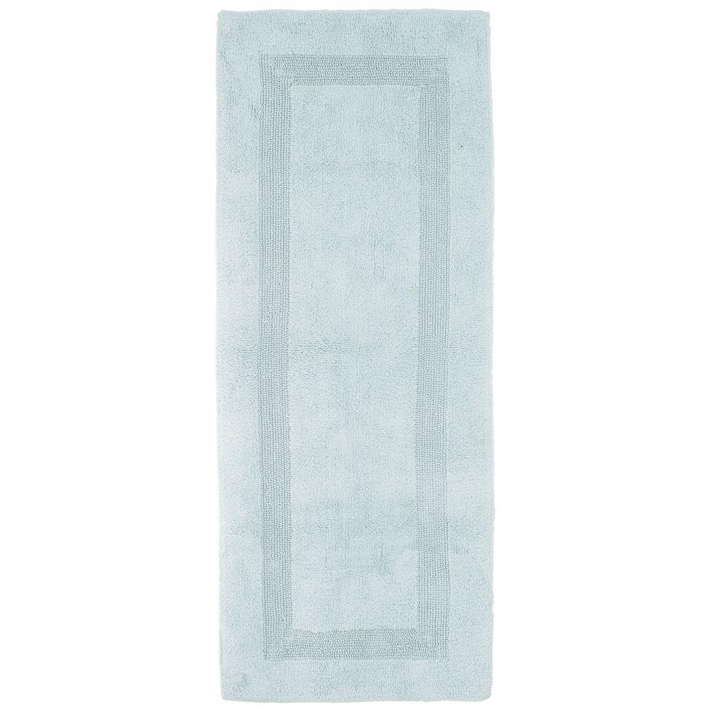 Seafoam 2 ft. x 5 ft. Cotton Reversible Extra Long Bath