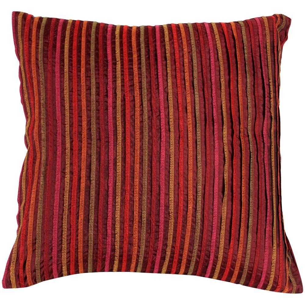 Artistic Weavers StripedB 18 in. x 18 in. Decorative Down Pillow-DISCONTINUED