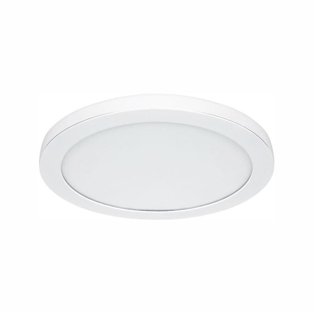 Commercial Electric 15 In White Led Edge Lit Flat Round Panel Flush Mount Light