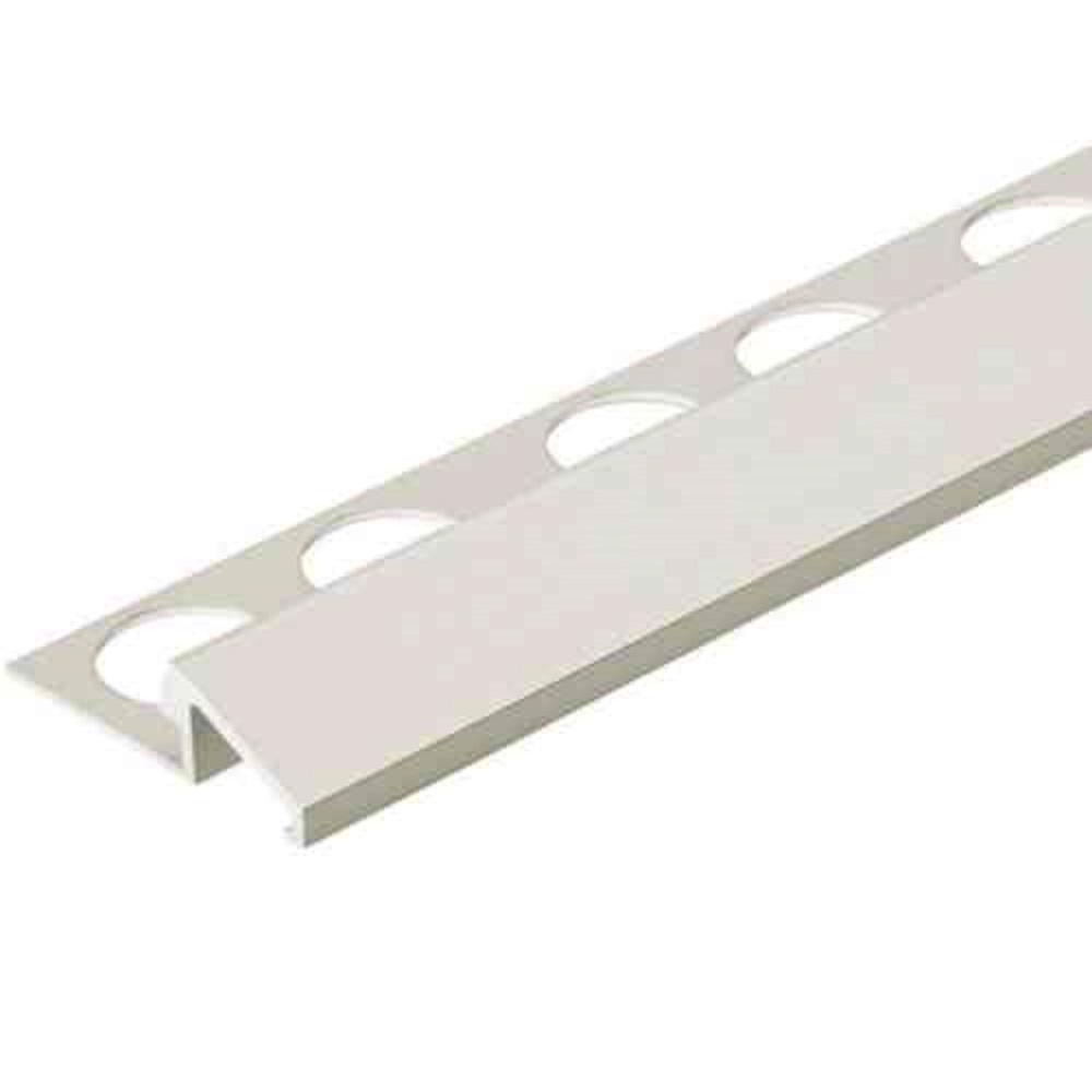Custom Building Products Satin Silver 1/2 in. x 98.5 in. Aluminum TC-Shaped Tile Edging Trim