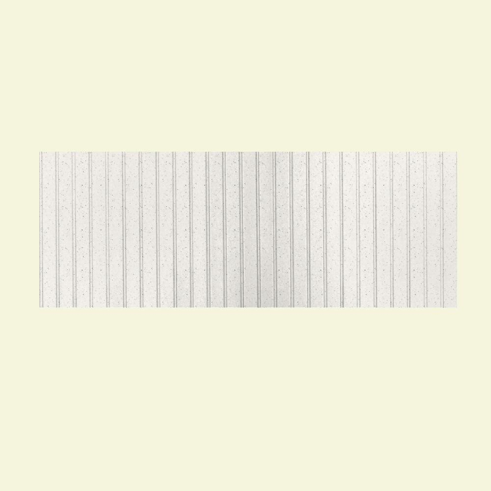 Swanstone 8 ft. x 3 ft. Beadboard One Piece Easy Up Adhesive Wainscot in Tahiti Matrix-DISCONTINUED