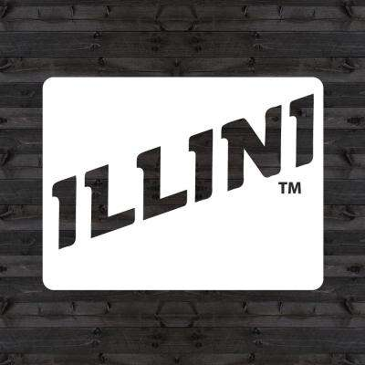 "Illinois ""ILLINI"" Mini Stencil"