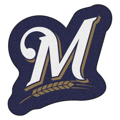 MLB - Milwaukee Brewers 30 in. x 31.9 in. Indoor Area Rug Mascot Mat