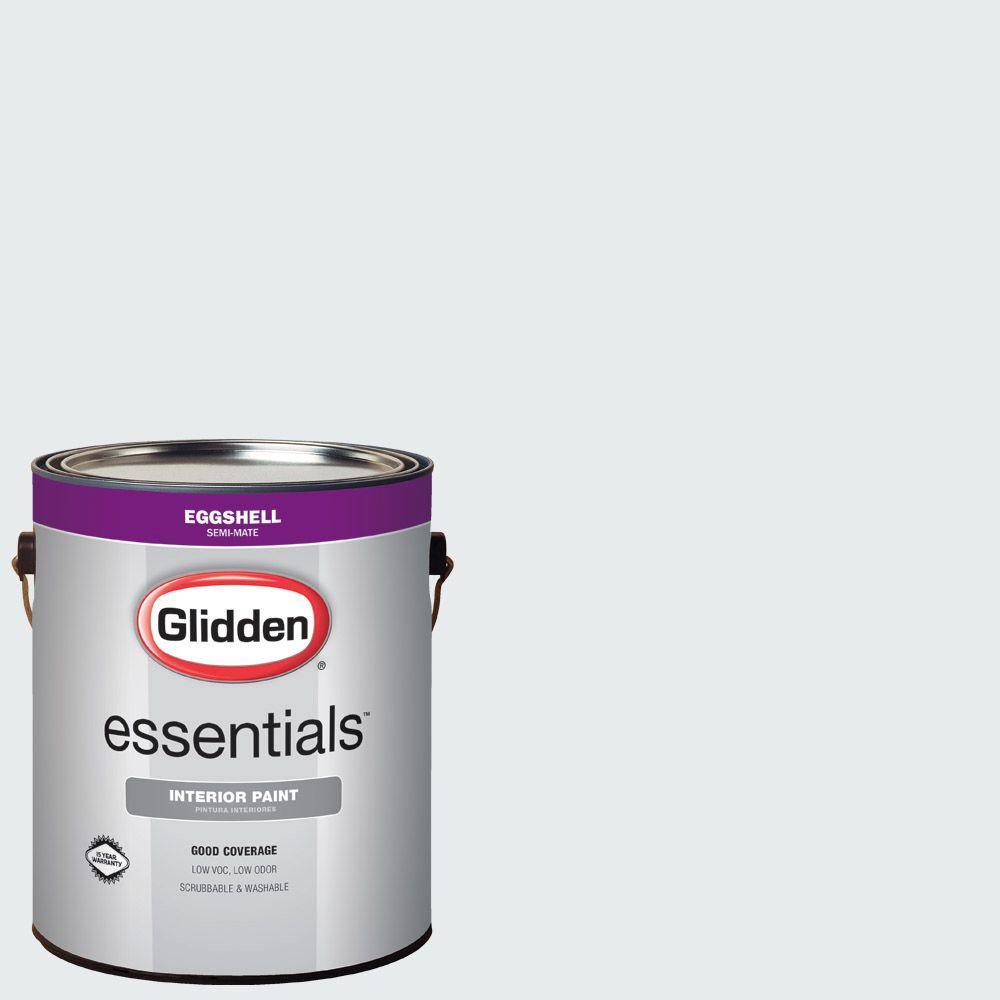 Glidden Essentials 1 Gal Hdgcn43 Dove White Eggshell Interior Paint