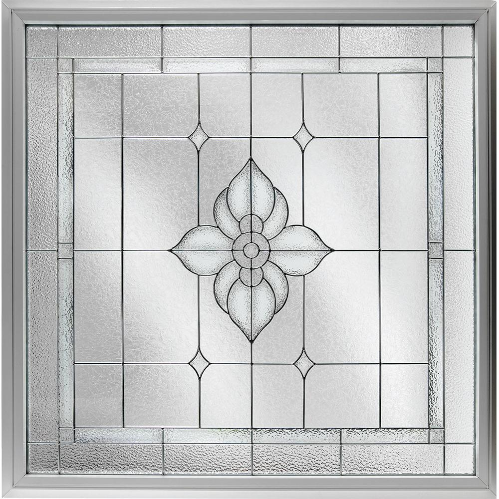 Hy lite 47 5 in x 47 5 in decorative glass fixed vinyl for Glass block alternatives