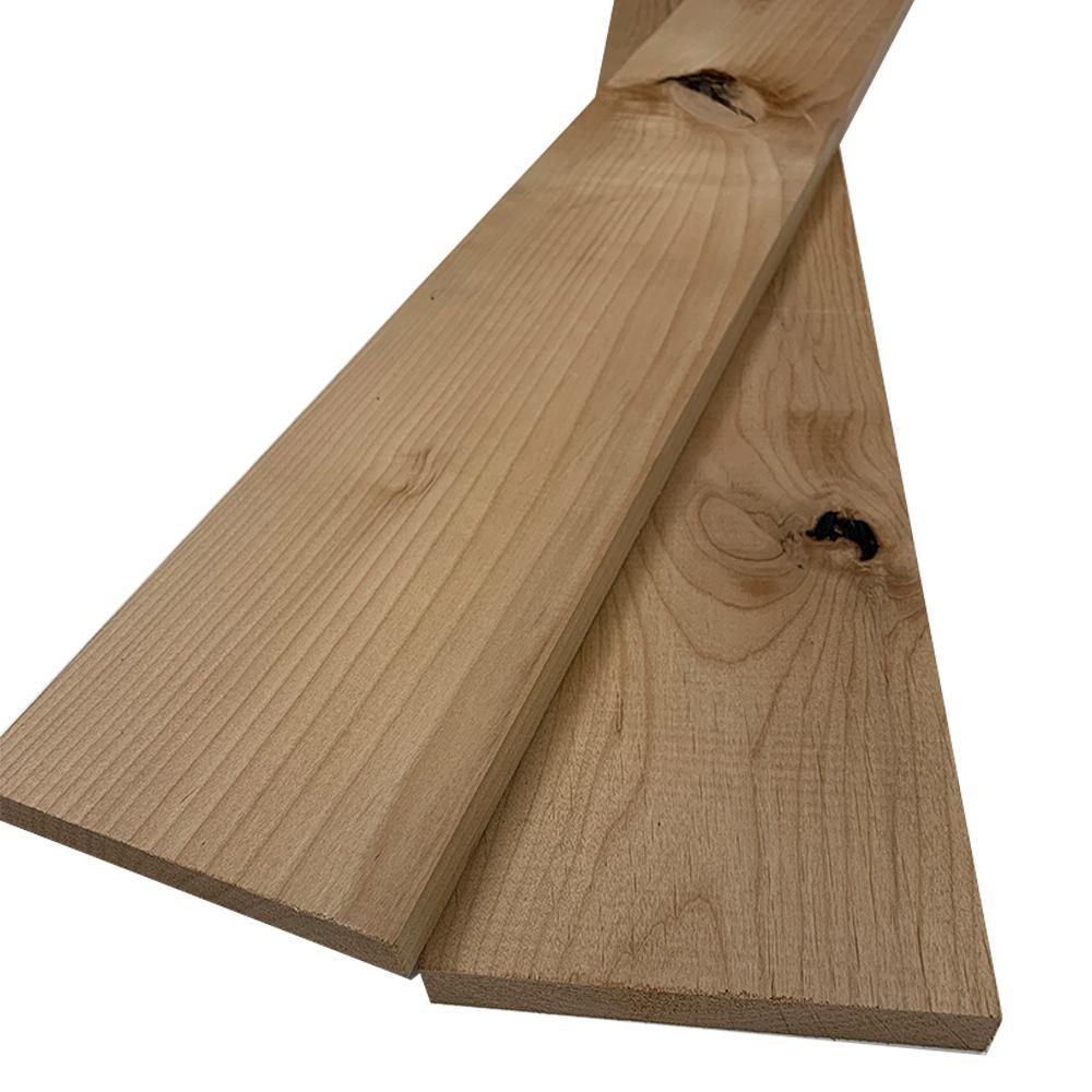1 in. x 6 in. x 8 ft. Knotty Alder S4S Board (2-Pack)