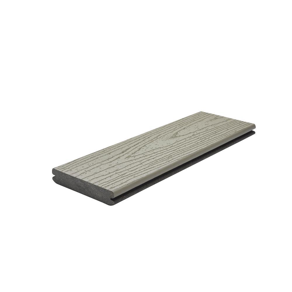 Trex Transcend 1 in. x 5.5 in. x 1 ft. Gravel Path Composite Decking Board Sample (Model # GPT92000 )