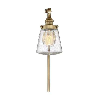 1-Light Natural Brass Sconce