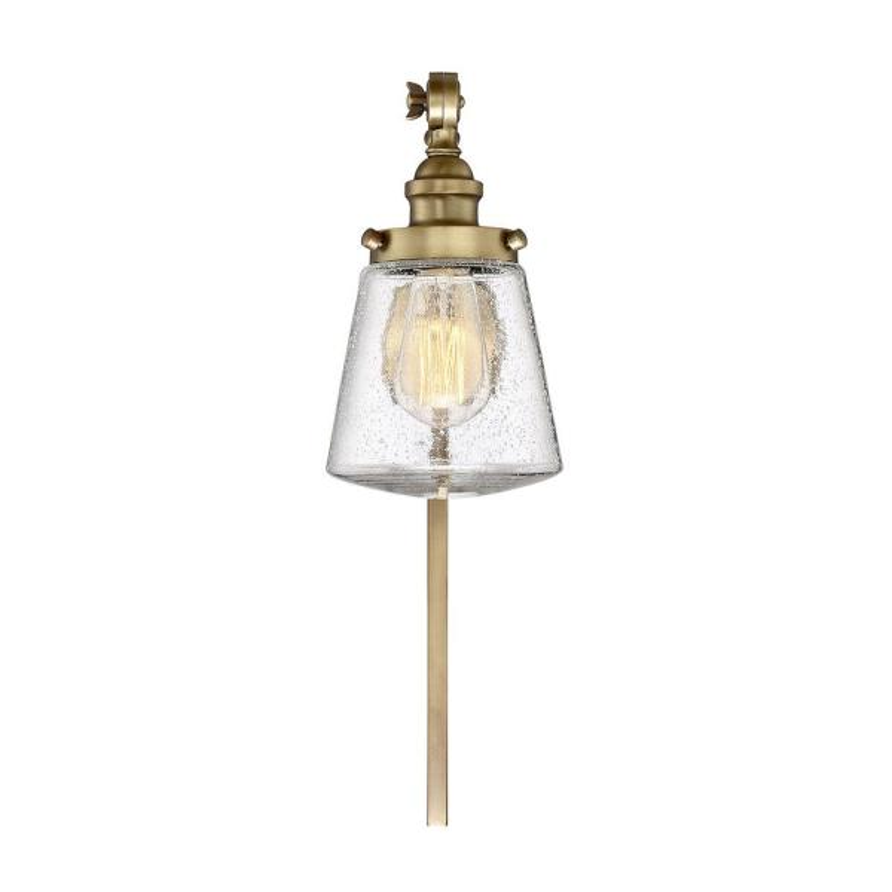 1-Light Natural Brass Sconce