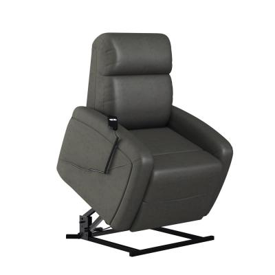 Modern Style in Slate Gray Suede-like Fabric with Padded Track Arms Power Recline and Lift Chair