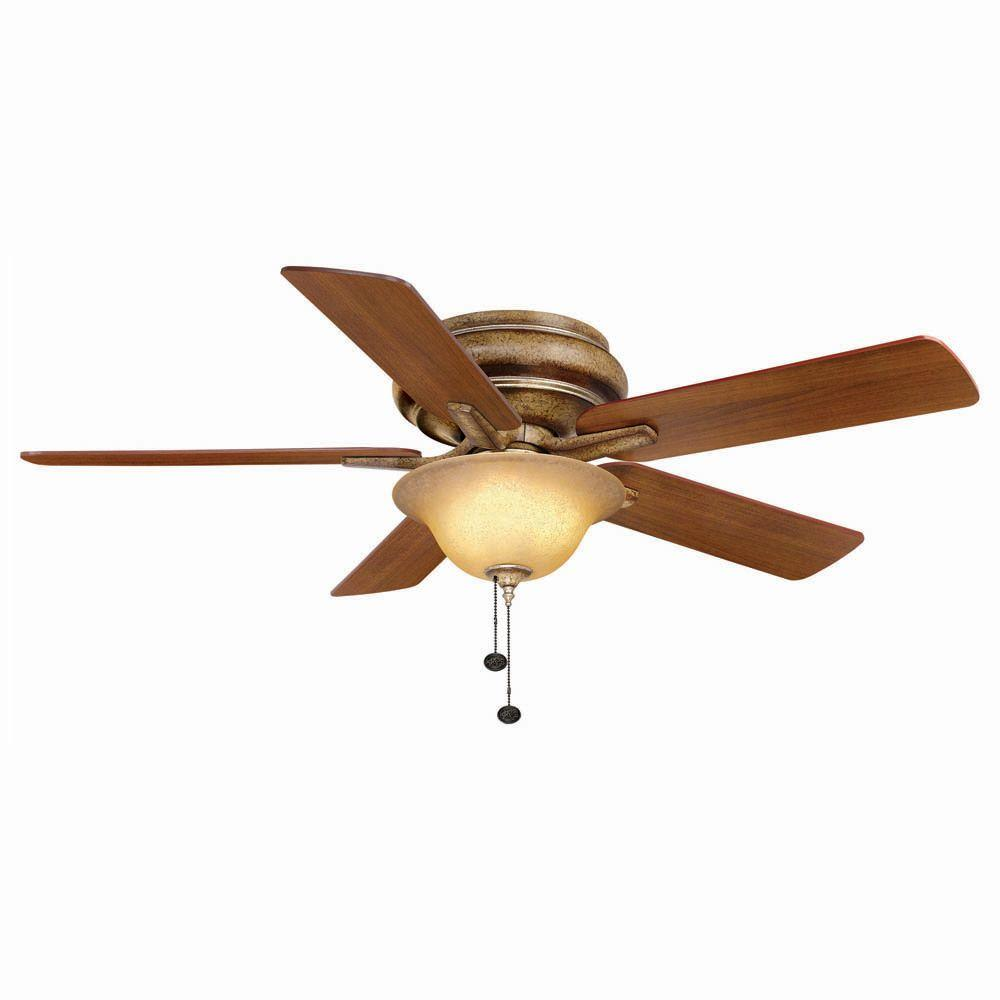 Hampton Bay Bay Island 52 in. Indoor Desert Patina Ceiling Fan with Light  Kit