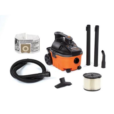 4 Gal. 5.0-Peak HP Portable Wet/Dry Shop Vacuum with Filter, Hose and Accessories