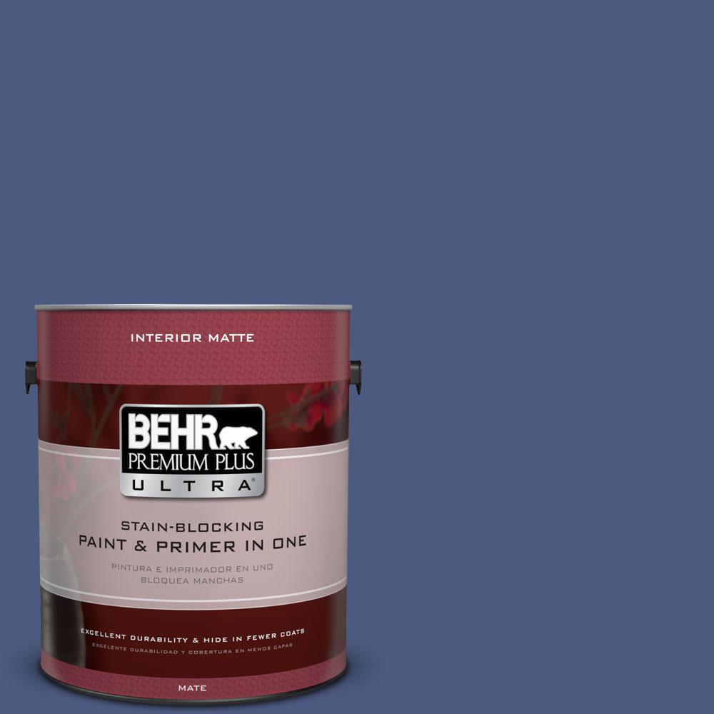 1 gal. #BIC-37 Dark Iris Matte Interior Paint
