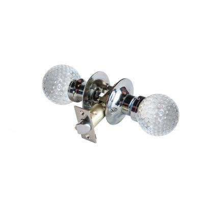 Golf Ball Crystal Chrome Passive Door Knob with LED Mixing Lighting Touch Activated