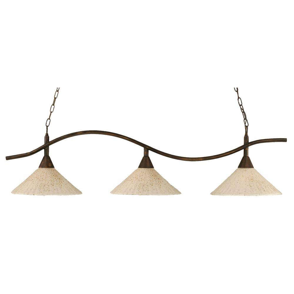 Filament Design Concord 3-Light Bronze Incandescent Ceiling Island Pendant