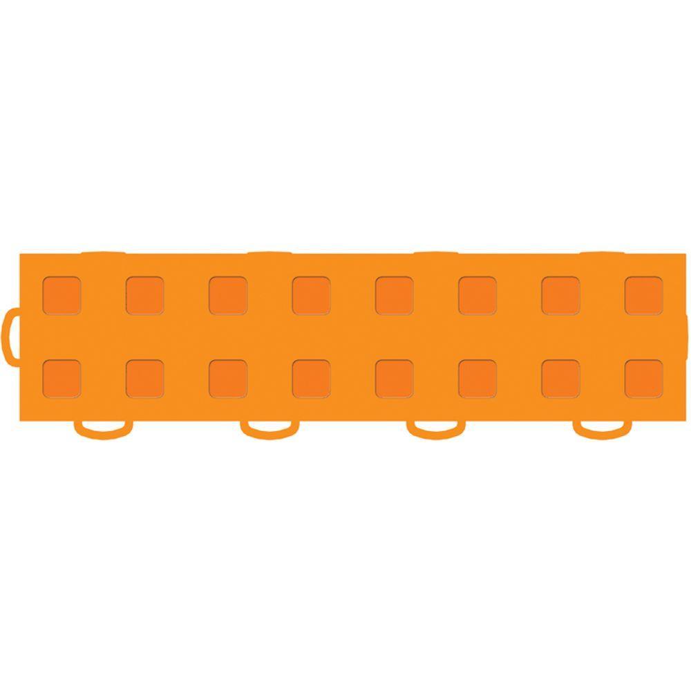 WeatherTech TechFloor 3 in. x 12 in. Orange/Orange Vinyl Flooring Tiles (Left Loop) (Quantity of 10)