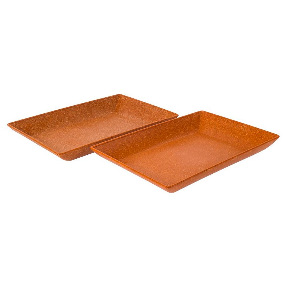 EVO Sustainable Goods Orange Eco-Friendly Wood-Plastic Composite Serving Dish