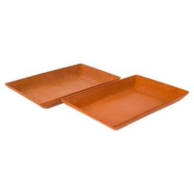 EVO Sustainable Goods Orange Eco-Friendly Wood-Plastic Composite Serving Dish Set (Set of 2)