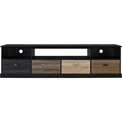 Woodmill Black 65 in. TV Console