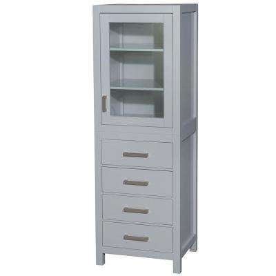 Sheffield 24 in. W x 71-1/4 in. H x 20 in. D Bathroom Linen Storage Tower Cabinet in Gray