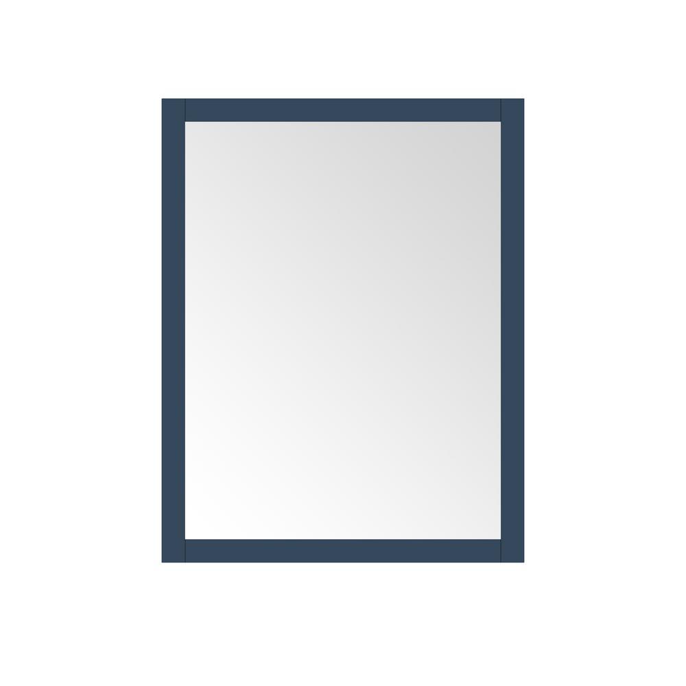 28.00 in. W x 36.00 in. H Framed Rectangular  Bathroom Vanity Mirror in Grayish Blue