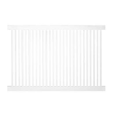 Williamsport 4 ft. H x 6 ft. W White Vinyl Pool Fence Panel