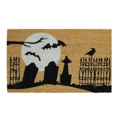 Graveyard 18 in. x 30 in. Coir Door Mat