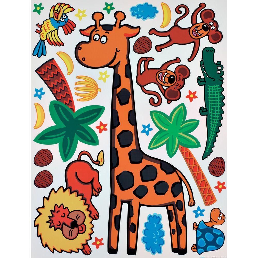 25.5 in. x 33.5 in. Giraffe Wall Decal