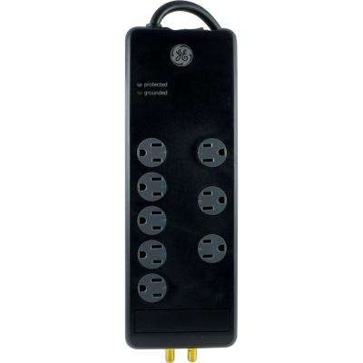 8-Outlet Pro Surge Protector, Black