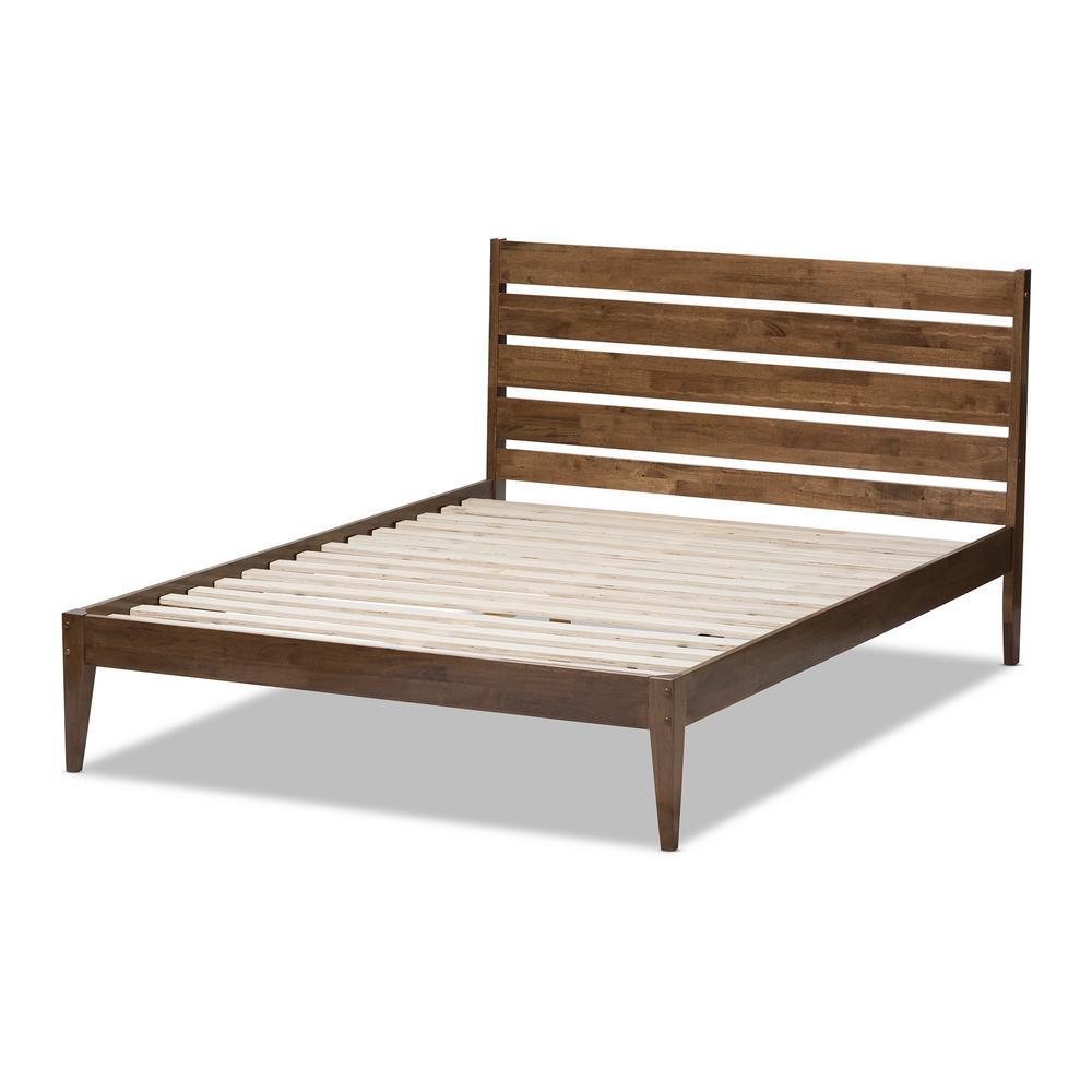 Elmdon Medium Brown Wood Full Platform Bed