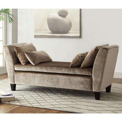 Taupe Grey Bench