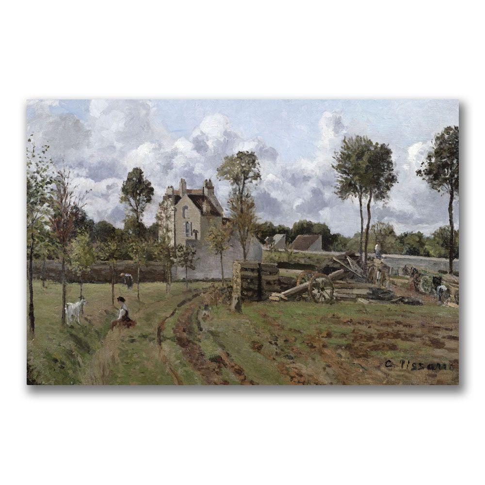 Trademark Fine Art 22 in. x 32 in. Pontoise Landscape Canvas