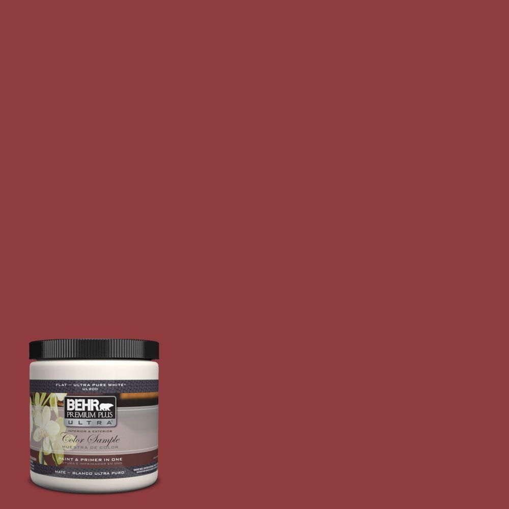 BEHR Premium Plus Ultra 8 oz. #160D-7 Cranberry Whip Interior/Exterior Paint Sample