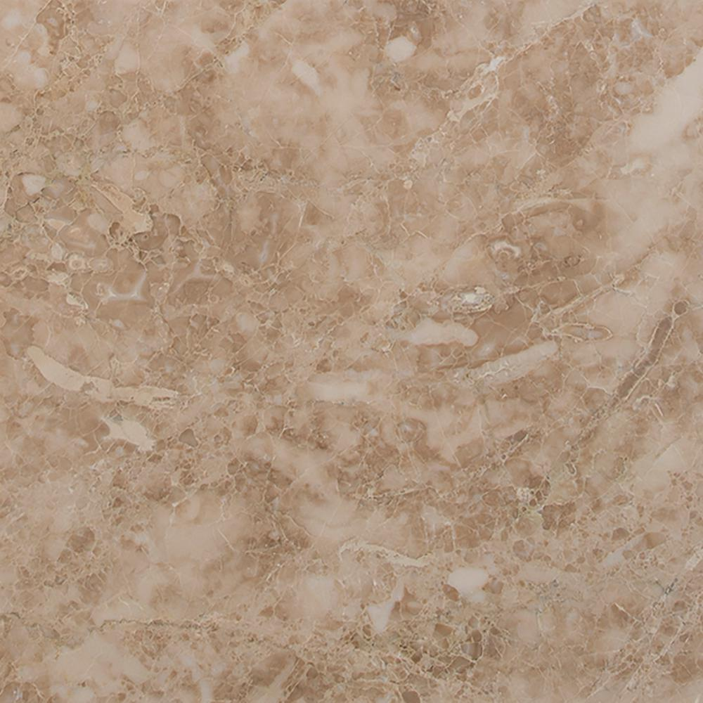 Crema Cappuccino 12 in. x 12 in. Honed Travertine Floor and