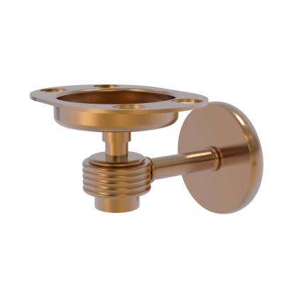 Satellite Orbit 1-Tumbler and Toothbrush Holder with Groovy Accents in Brushed Bronze