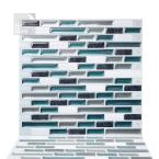 Como Bay 10 in. W x 10 in. H Peel and Stick Self-Adhesive Decorative Mosaic Wall Tile Backsplash (10-Tiles)