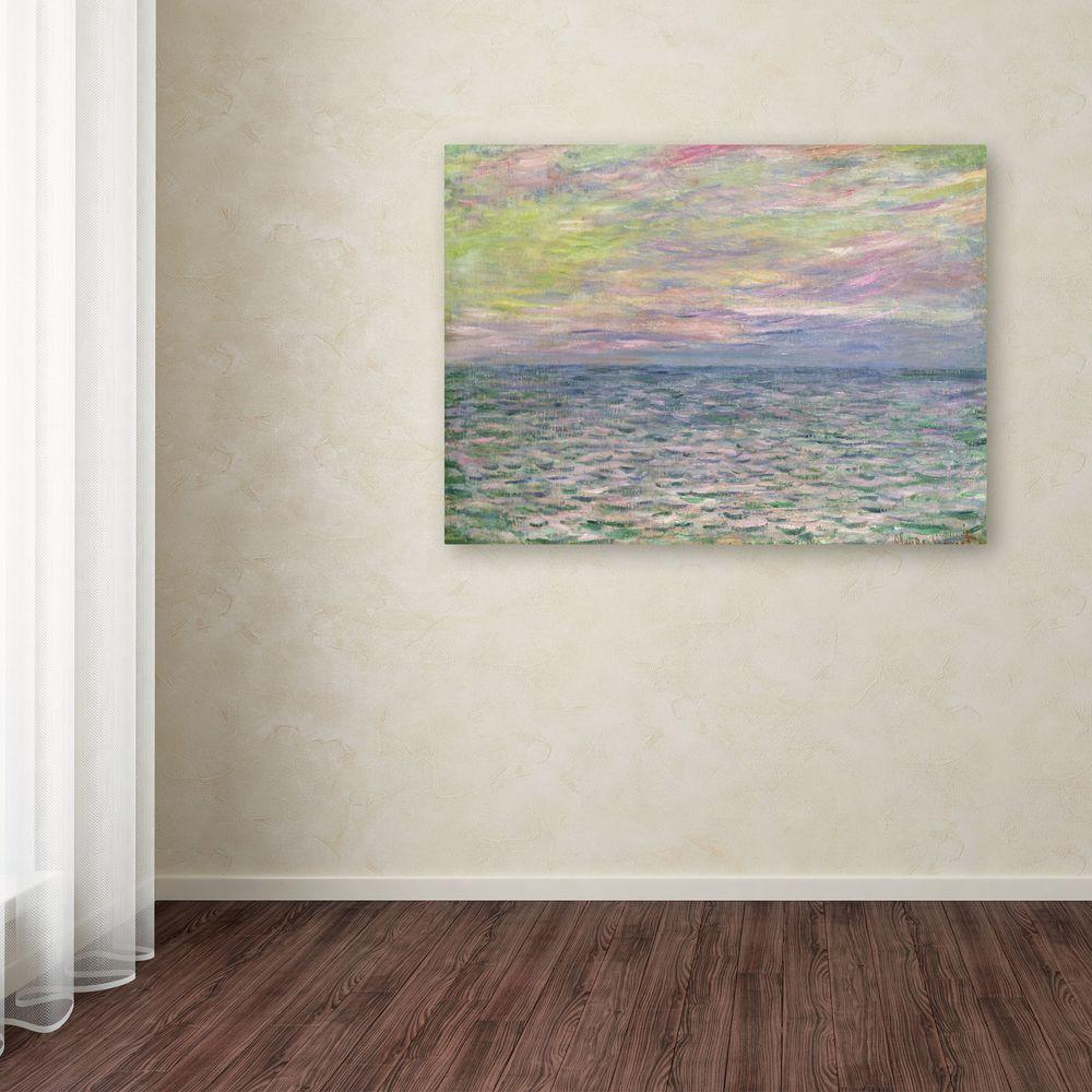 "35 in. x 47 in. ""Coucher De Soleil a Pourville"" Canvas"